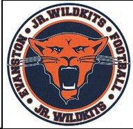 Evanston Jr. Wildkits Football Logo