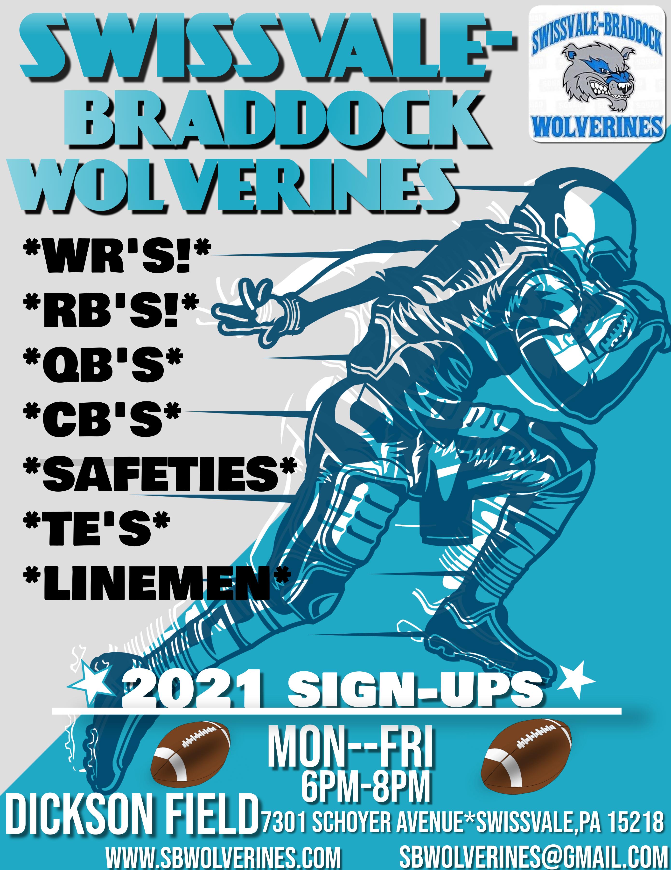 The Swissvale-Braddock Wolverines Logo
