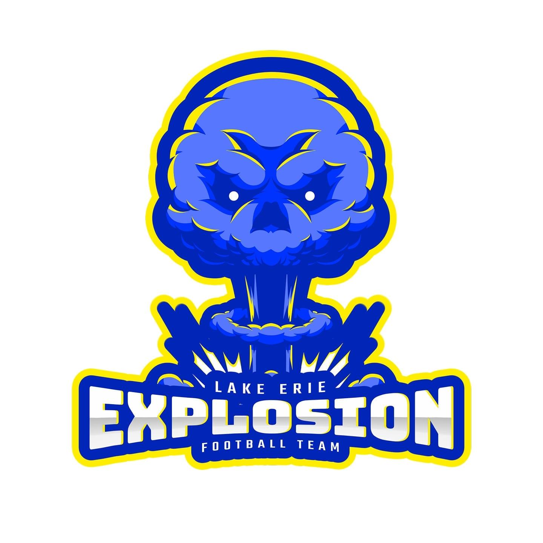 Lake Erie Explosion Sports Organization Logo