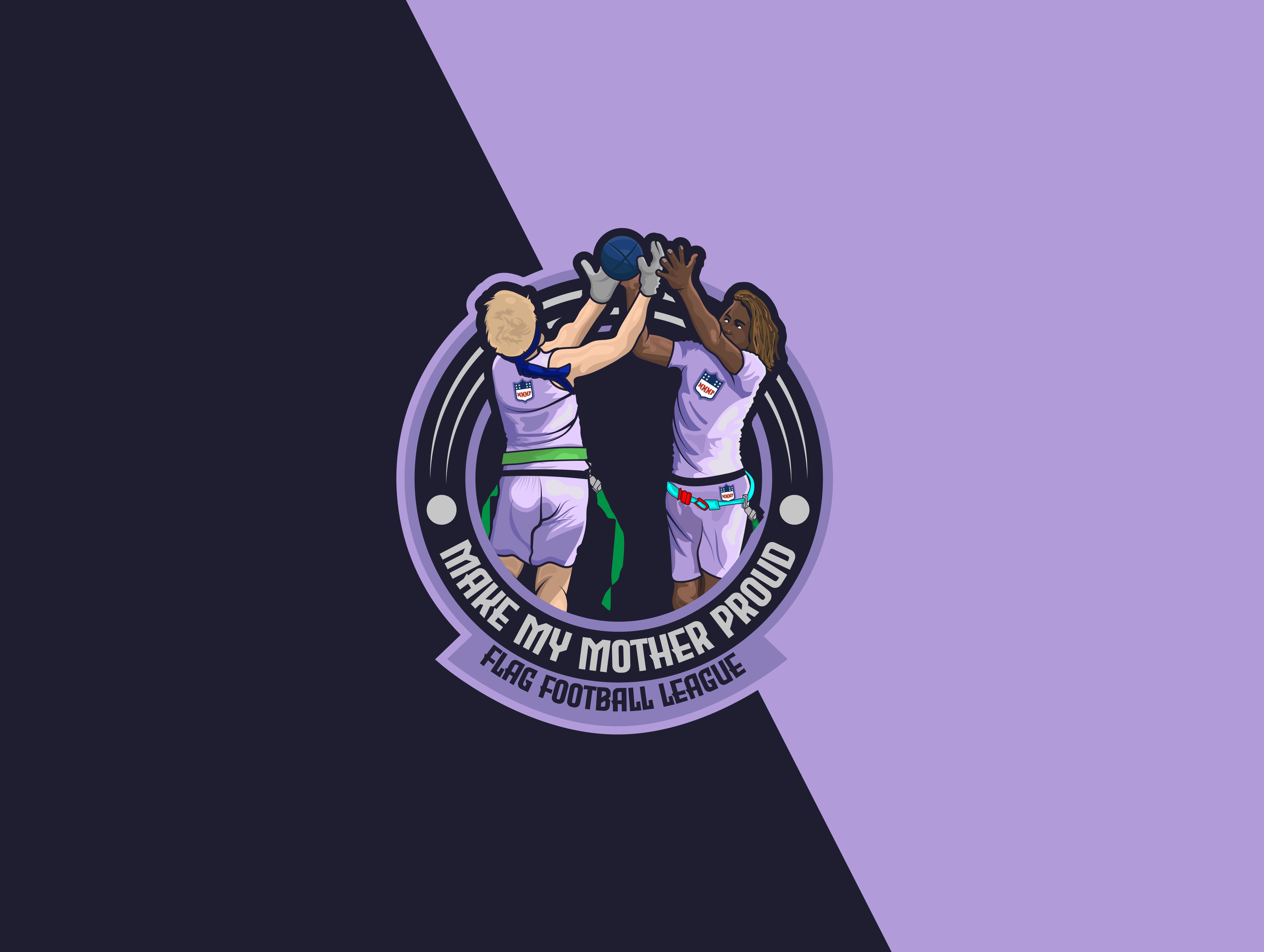 Make My Mother Proud Flag Football Logo